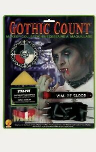 Halloween Vampire Makeup Kit Make-up Face Paint Gothic Count Fancy Dress