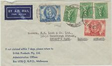 Australia 1946 cover to England, nice stamp combination,good condition