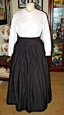 CIVIL WAR DRESS~VICTORIAN STYLE-COTTON JETT BLACK CAMP/WORK/MOURNING SKIRT