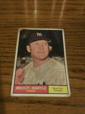 Vintage Aged 1961 Topps Mickey Mantle #300 Fair (Please Read Info B4 You Bid)