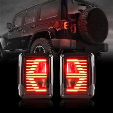 07-18 Jeep Wrangler JK JKU Rear Tail Lights E-Type Turn Signal LED Lamps - Pair