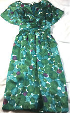 Collective Concepts green floral pattern dress, size S