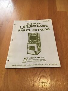 Laguna Racer Video Arcade Game Parts Catalog, Midway 1977