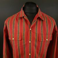 Polo Ralph Lauren Mens Vintage Shirt XL Long Sleeve Red Classic Fit Abstract