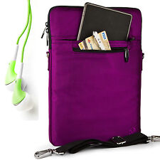 Purple Carrying Bag Case Sleeve for iPad Pro 12.9 / The new MacBook 12'' +Earbud