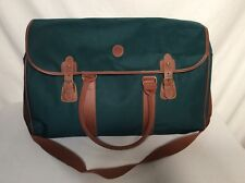 POLO RALPH LAUREN TRAVEL OVERNIGHT CARRY ON BAG GREEN BROWN CANVAS LARGE VTG NEW