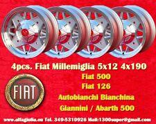 4 rad Fiat cinquecento Abarth 500 126 5x12 4x190 Räder Felgen Jantes llantas