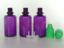 Purple 10ML/30ML Plastic Double ChildProof Tamper Evident Dropper Bottles PET