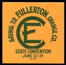 USA Poster Stamp - Christian Endeavor Convention 1935 Fullerton, CA