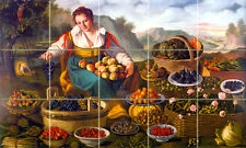 Art Mural Ceramic Backsplash Fruits Tile #248
