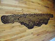 HERITAGE LACE BLACK HALLOWEEN RIP WITCHES BREW MANTEL SCARF 19L BY 89W ITEM 4033