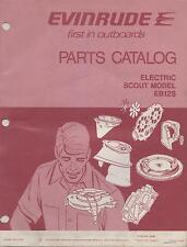 1974 EVINRUDE OUTBOARD MOTOR ELECTRIC SCOUT MODEL P/N 279677 PARTS MANUAL (036)