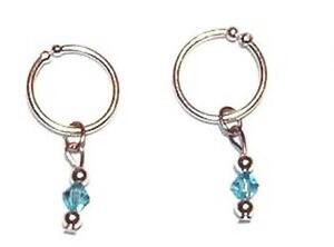 Pair of .925 Sterling Silver Body  Navel Ring Clips or Intimate female NO pierce