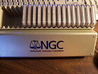 NGC GRADED PR 69 COINS-MIXED BOX OF 20 SILVER COINS NO DUPLICATES1 BUY=20 SLABS