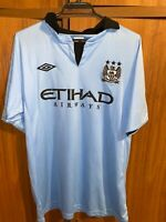 Vintage Manchester City Home Football Shirt Jersey Mens Size M England