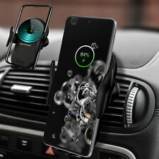 For Samsung Galaxy Note20 Ultra 5G/S20 Qi Wireless Fast Charger Car Mount Holder