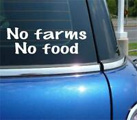 No Farms No Food Farmer Farming Funny Decal Sticker Car Vinyl