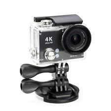 "2.0"" Waterproof 4K UHD WiFi Sport Action DV Camera Mini HDMI Helmet Cam Black"