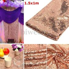 Rose Gold Sequin Wedding Photo Booth Backdrop Photography Background Table Cloth
