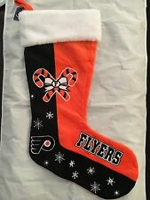 "Philadelphia Flyers 24"" Large Team Logo Christmas Stocking . NHL Hockey NWT NEW"