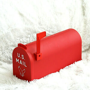 Large Post Mount Mailbox Red Durable Postal US Mail Plastic No Rust USPS Size