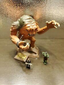 Star Wars Micromachines Galoob Action Fleet Rancor with Luke & Gammorean Guard