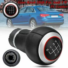 6 Speed Gear Shift Knob Red Ring For Audi A3 8P A4 S4 B7 B8 8K A5 Q5 8R S-Line