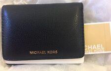 Michael Kors LIANE SM BillFold Leather Wallet in BLACK,NWT