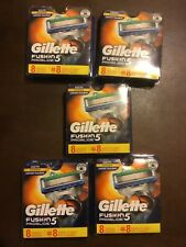5 PACKS Gillette Fusion 5 ProGlide Power Cartridges/Blades - 8 Count - BRAND NEW