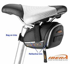 Bike Triangle Bag Bicycle Frame Pouch Carbon Look Reflective Trim FB2M 4