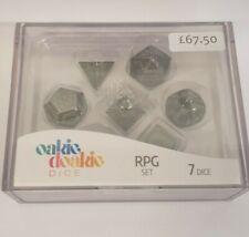 More details for oakie doakie dice - metal glow in the dark, druid's blaze - rpg set