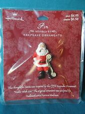 Hallmark Christmas Pin Nick's Wish List Pin matches 1998 Ornament New Card Santa