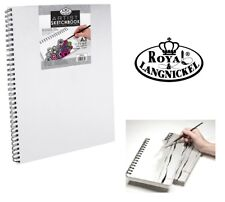 A3 Royal & Langnickel Sketchbook Pad White Hardback Canvas Spiral Bound 110gsm