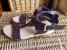 Womens Office Hadley Leather Espadrille Brown Strap Sandals Size 3.5 UK 36 EU