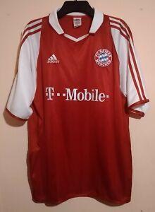 BAYERN MUNICH FOOTBALL CLUB 2004 RED HOME SHIRT XL SANTA CRUZ 24 ADIDAS T MOBILE