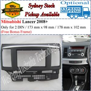 Fascia facia Fits Mitsubishi Lancer Double Two 2 DIN Dash Kit