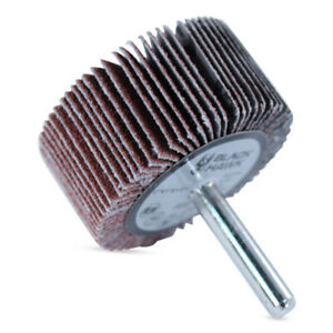 "2/"" x 1/"" x 1//4/"" 80-Grit Aluminum Oxide Blackstone® Mounted Interleaf Flap Wheels"