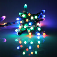 50pc full Color Digital Diffused RGB LED Pixel WS2811 12mm 12V Waterproof IP68
