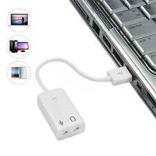 USB 7.1 Channels 3D External Virtual Stereo Sound Card Audio Adaptor Converter