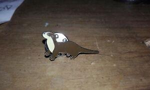 Enamelled Otter brooch