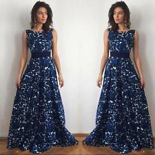Womens Long Formal Prom Dress Cocktail Party Ball Gown Evening Wedding Dress M
