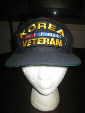 Korea Veteran Ball Cap Black Gold Red Blue One Size Fits All New