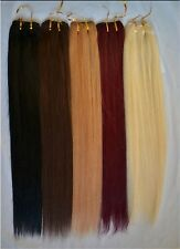 120gr 40cm~65cm 100% Real Human Hair Weft Remy Hair Weaving Extensions Full Head