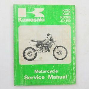 Kawasaki KX60 KX80 KDX80 KX100 Factory Motorcycle Service Manual 1988-1995