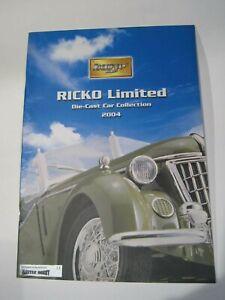 Catálogo Catalogue Ricko Reference Guide Collectors diecast cochesaescala