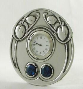 Archibald Knox Miniature Pewter Clock Art Nouveau Design Made in England | B15