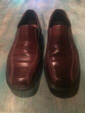 NEW ECCO Men's Slip-On Loafer Sz 8 Brown Leather Bicycle Toe Shock Point