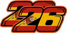 Dani Persoa number 26 2 pack image Racing Super Bike Sticker  TT Race Decal Car