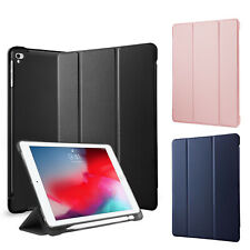 For Apple iPad 9.7 2018/7/6/5/Air 1 2 Case Leather Stand Pencil Holder TPU Cover