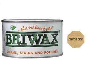 Briwax Original Natural Wax Polish Wood Furniture Cleans Stains All Colours 400g